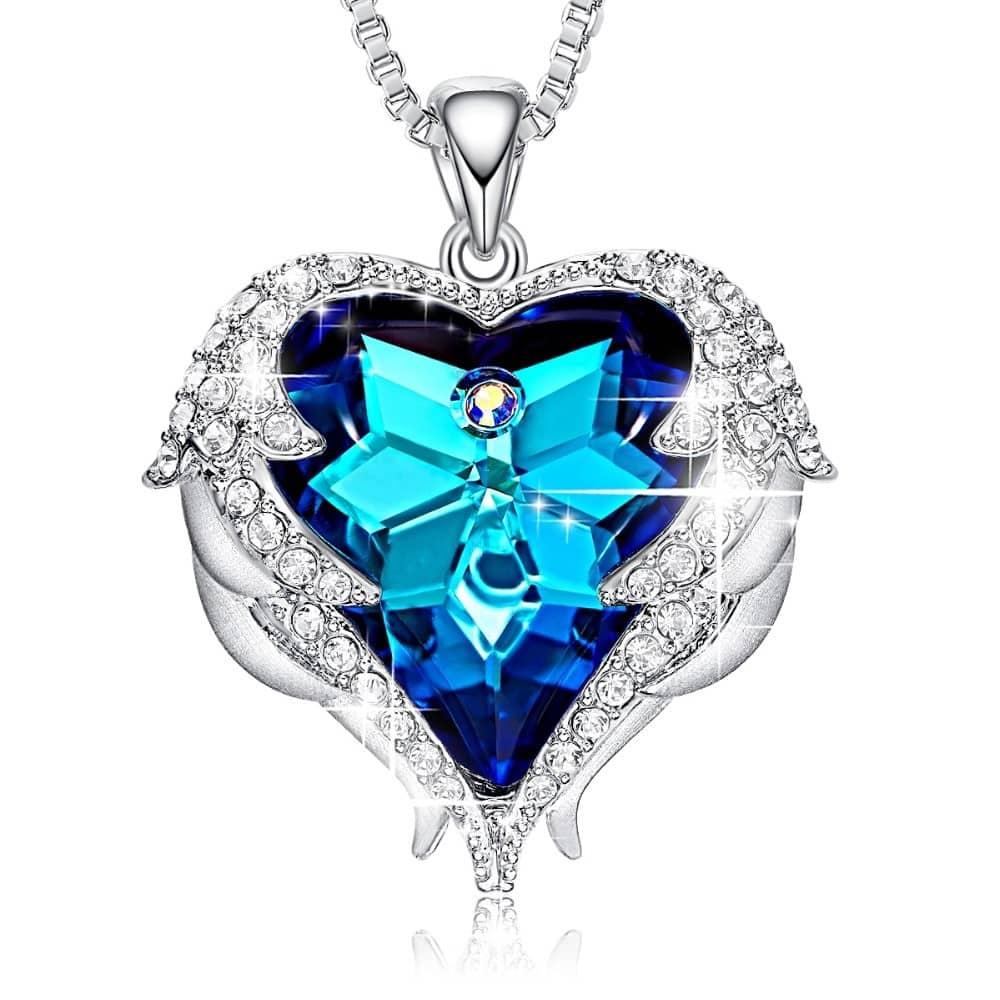 Młodzieńczy Kryształ Swarovskiego Naszyjnik Serce Anioła - mutlum UV72